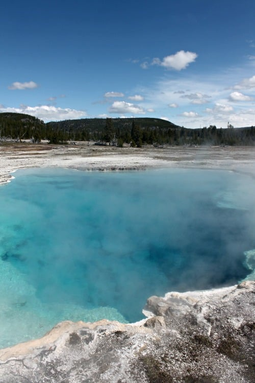 Sapphire Pool in Yellowstone: Week 19 of 22 week RV road trip.