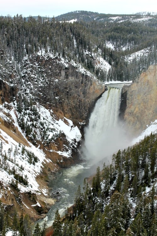 Canyon Falls in Yellowstone: Seen during week 19 of 22 week RV road trip.