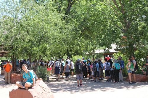 Week 20 of a 22 week RV road trip. Memorial crowds at Zion National Park.
