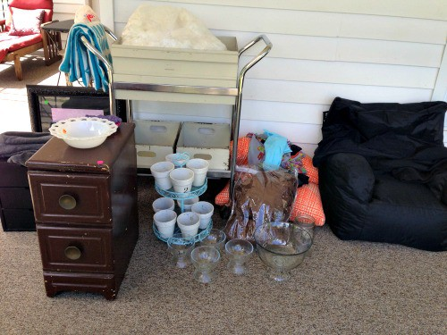 Town rummage finds our first week back after our 22 week RV road trip.