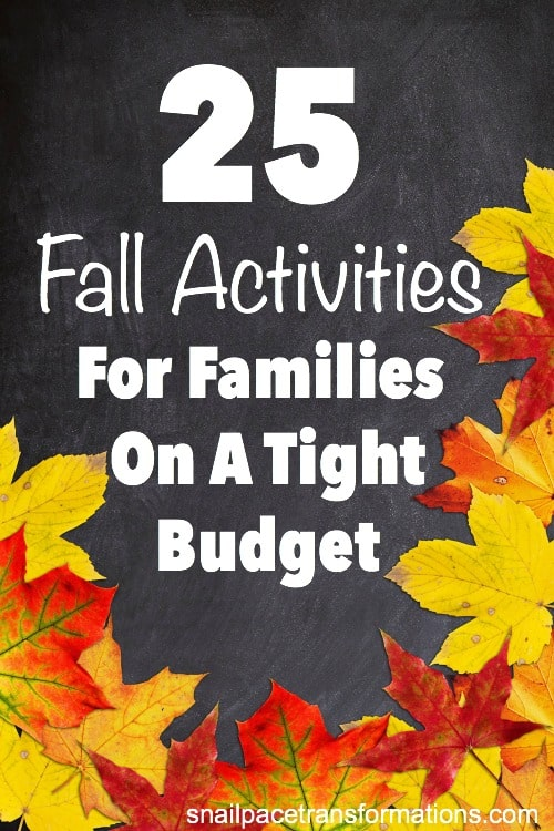 25 low cost or free Fall activities for the whole family. #fallcrafts #fallbucketlist