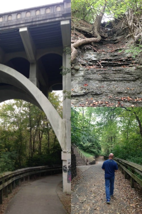 The Whitewater Gorge Trail was an easy and beautiful walk in Richmond, Indiana.