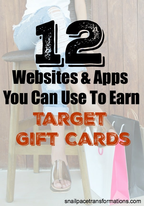 Use these websites and apps to earn Target gift cards. Plus learn ways to save money at Target. #targetdeals #moneytips
