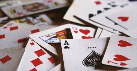 Play card games on a rainy day--one of 25 rainy day activities