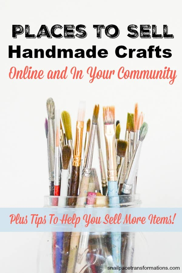 Places to sell your handmade crafts. #sidehustle #workfromhome