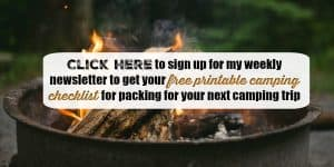 Essential Items For Camping: Plus Free Printable Camping Checklist