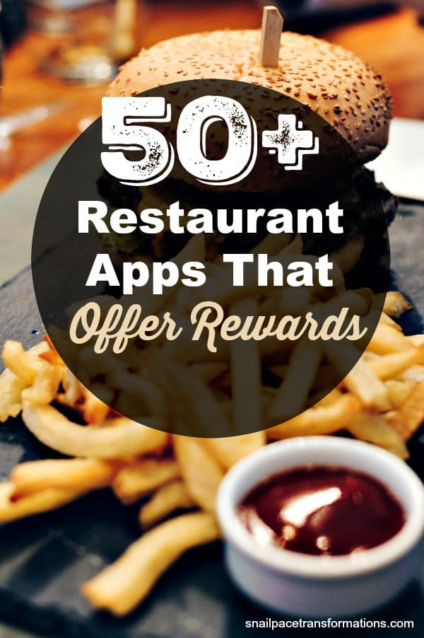 Save money on restaurant food with this list of restaurant apps that offer coupons and rewards. #frugalliving #savemoney