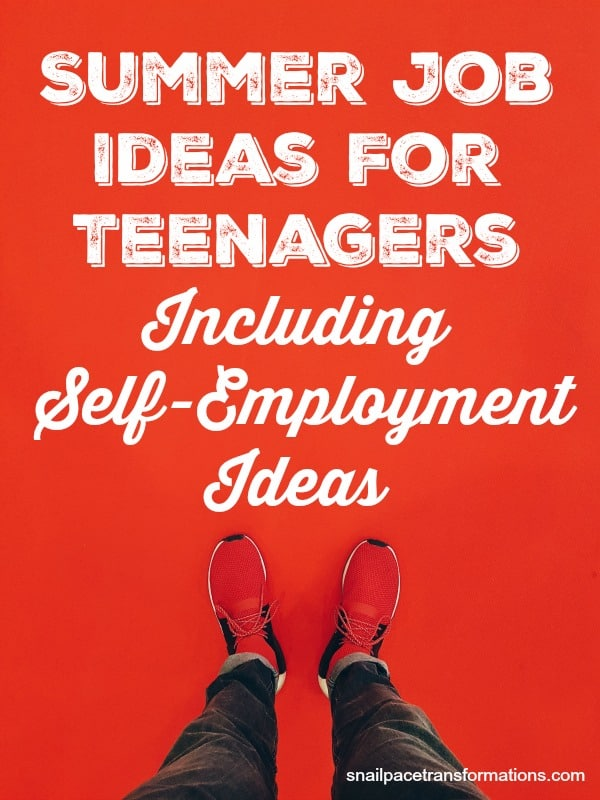 Summer job ideas for teens; including self-employment ideas. #teens #summerjobs