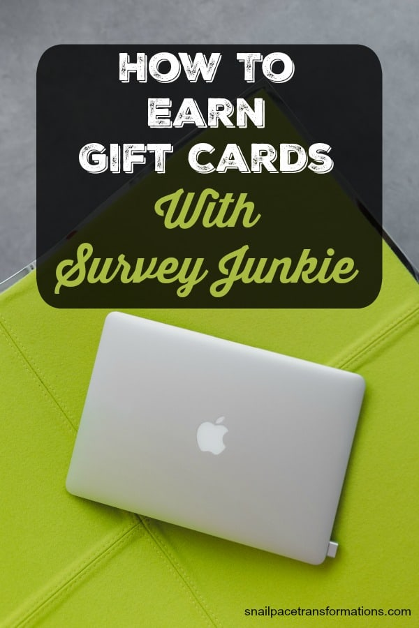 Earn gift cards using Survey Junkie. #sidehustle #workathome
