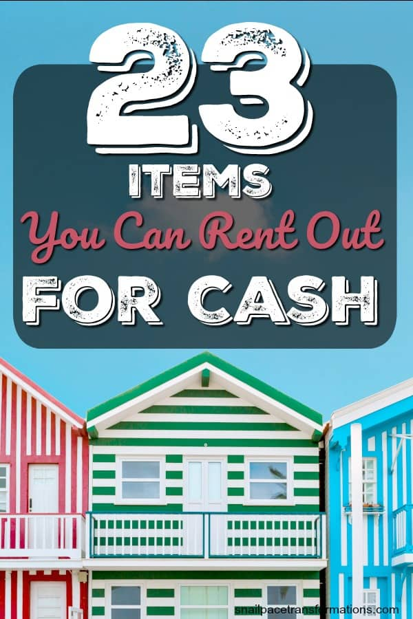 You will never guess the items on this list are rentable! Create an income stream renting out items you own for cash. #sidehustle #sidejob #flexibleincome