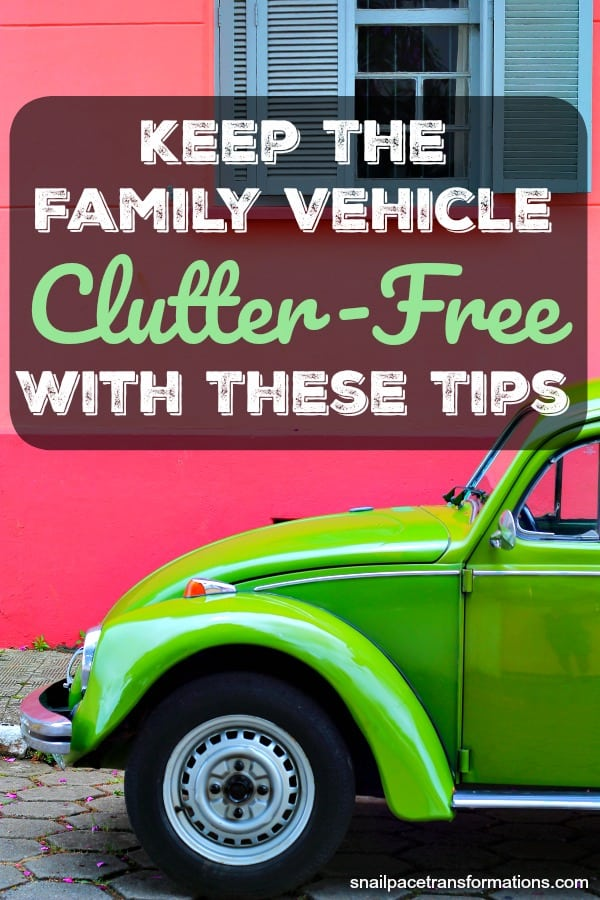 Keep the family car, van, SUV or truck clutter-free with these simple to follow tips. #clutterfree #familylife #cleaningtip