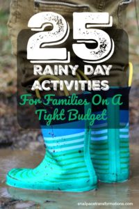 25 Rainy Day Activities For Families On A Tight Budget