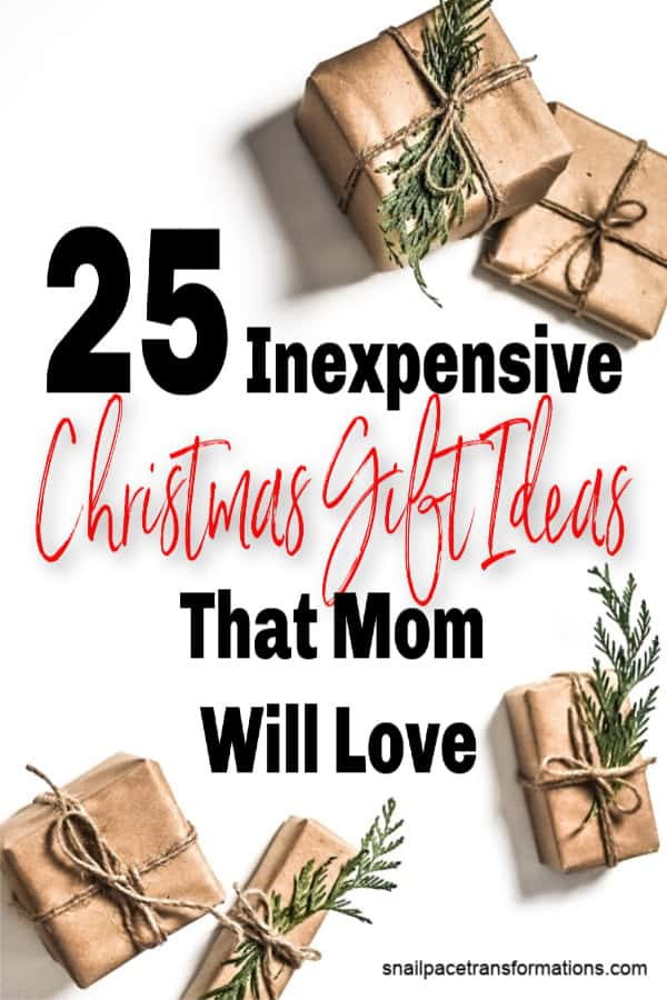 Christmas gift ideas that mom will love. No matter what her personality, you will find something your mom likes on this list that won't break your budget. #christmasgifts #christmasgiftideas