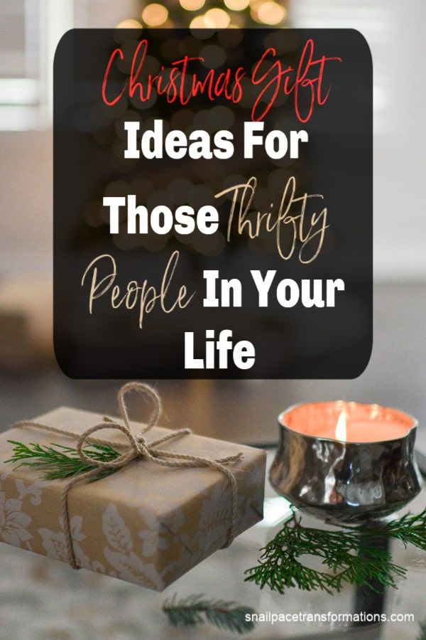 Christmas gift ideas for those thrifty people in your life. #christmasgiftideas #frugalliving #thriftyliving #christmas