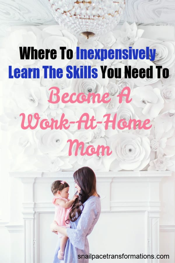 Learn the skills you need to get started as a work-at-home mom without spending a fortune. #workathome #workfromhome #workathomejobs