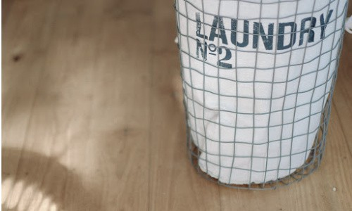 A few empty big baskets on hand at all times can help clean a home fast.
