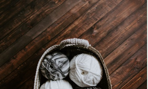 A basket can be such a handy tool for cleaning up a room fast.