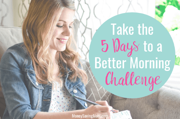 Take The Five Days to a Better Morning Challenge!