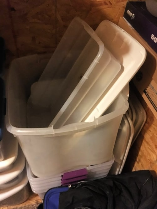 Month Two Of The 90/52 Decluttering Challenge: Empty Bins! Less stuff equals less mess.