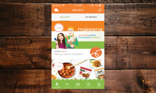 Use Makeena to earn rebates from your organic food purchases and more.
