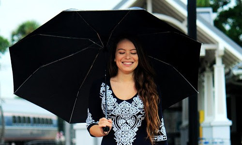Slow down and enjoy spring by going for a walk in a gentle spring rain shower.
