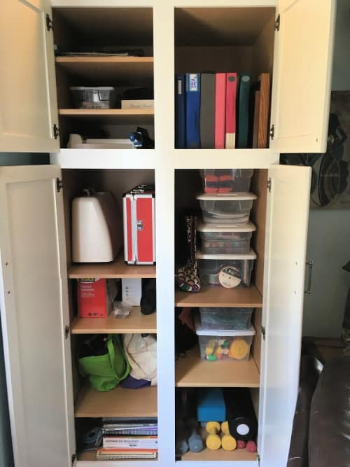My clutter-free storage cabinet.