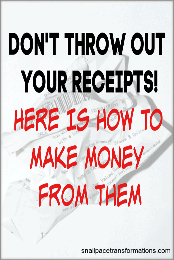 Don't throw away your receipts before doing these steps. You are throwing cash in the garbage if you do. #moneysavingtips #earnmoney #savingmoney