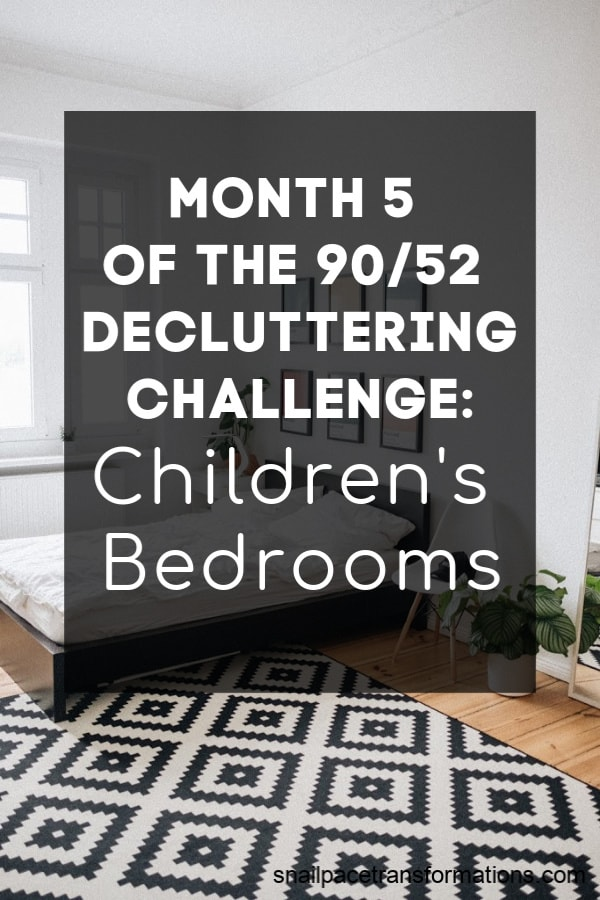 This month during the 90/52 decluttering challenge I focused on getting my children's bedrooms under control. #declutteringtips #declutteringahome
