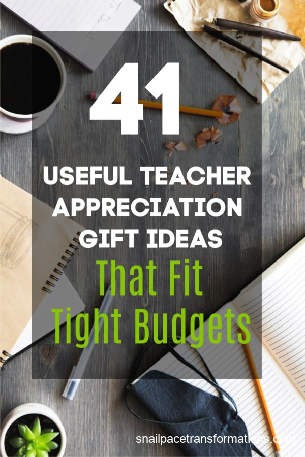 Give the teachers in your lives gifts they will use and love. These gifts will fit in your budget no matter how tight it is. #teachergifts #teacherappreciation #teacherendofyeargifts