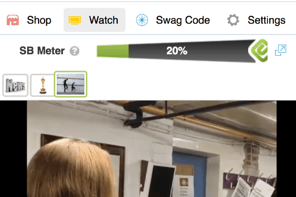 The SwagButton Makes Watching Toolbar TV For SB Points More Convenient.