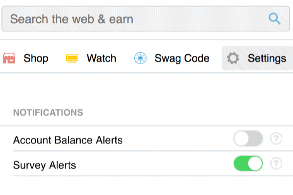 You Can Set The SwagButton To Notify You When A New Survey Becomes Available