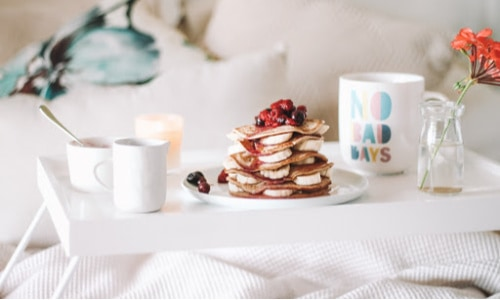 Breakfast in bed--a well-loved Mother's Day.