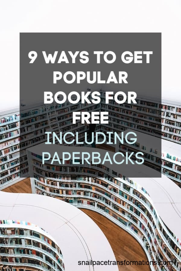 Why are you paying for books? Use these nine ways to get popular books for free! #booklover #thriftyliving #frugalliving #bookworm