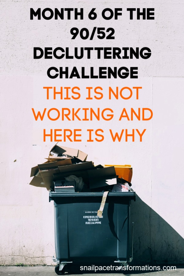 Why this decluttering challenge isn't working for me and what I plan to do about it. #declutteringtips #declutteryourhome