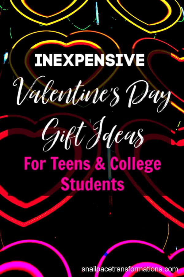 Valentine's day is a perfect excuse to shower a bit of love on your teens and college-age kids with an inexpensive gift. The gifts on this Valentine's day gift list are tight-budget friendly and many can be given to either a daughter or a son.