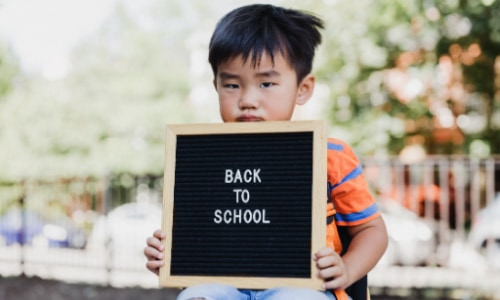 Just because your kids are staying home doesn't mean they can't have first day of school photos.